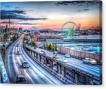 Seattle At Twilight Canvas Print
