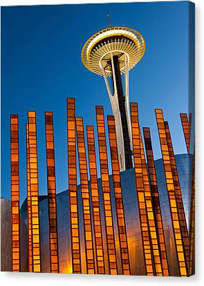 Seattle Center Twilight Canvas Print