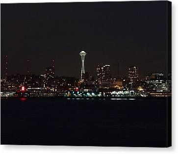 Seattle City Lights Canvas Print by Kyle Wood