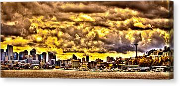 Seattle Cityscape IIi Canvas Print by David Patterson