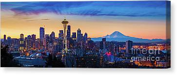 Seattle Dawn Panorama Canvas Print