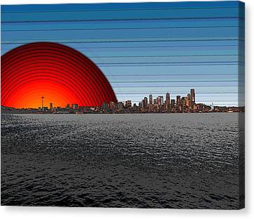 Seattle Dawning 2 Canvas Print