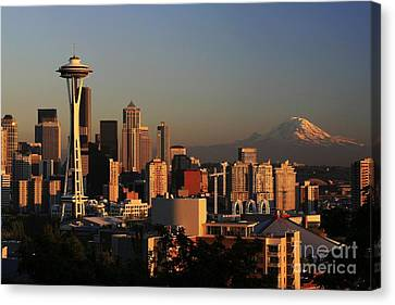 Cityscape Canvas Print - Seattle Equinox by Winston Rockwell