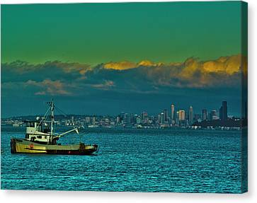 Seattle Evening Canvas Print by Dale Stillman