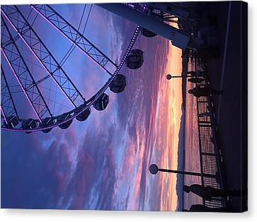 Seattle Ferris Wheel Canvas Print