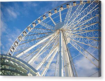 Monorail Canvas Print - Seattle Ferris Wheel by Paul Bartoszek