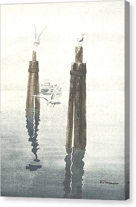 Seattle Ferry Canvas Print by Robert Thomaston
