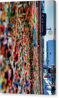 Seattle Gum Wall Canvas Print
