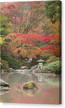 Seattle Japanese Garden Canvas Print by Thorsten Scheuermann