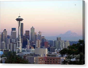 Seattle Canvas Print by Larry Keahey