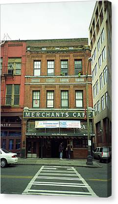 Seattle - Merchants Cafe Canvas Print by Frank Romeo