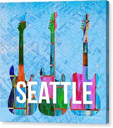 Seattle Music Scene Canvas Print by Edward Fielding
