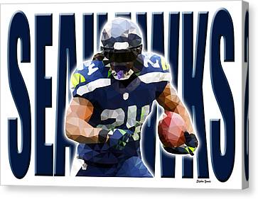 Seattle Seahawks Canvas Print by Stephen Younts
