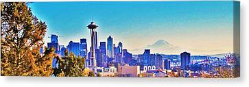 Seattle Sky Canvas Print