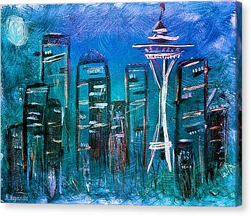 Seattle Skyline 2 Canvas Print by Melisa Meyers