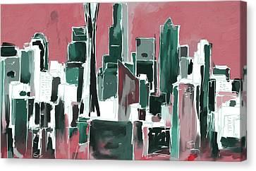 Seattle Skyline 565 4 Canvas Print by Mawra Tahreem