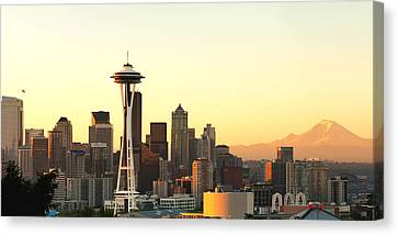 Seattle Skyline From Kerry Park Canvas Print by Alvin Kroon