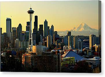Seattle Skyline Canvas Print by Greg Sigrist