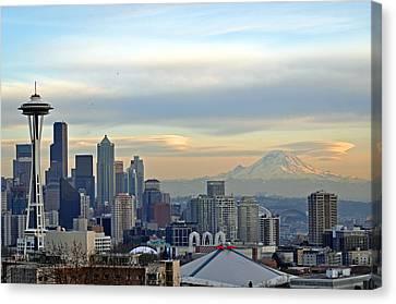 Seattle Skyline Canvas Print by Matthew Adair