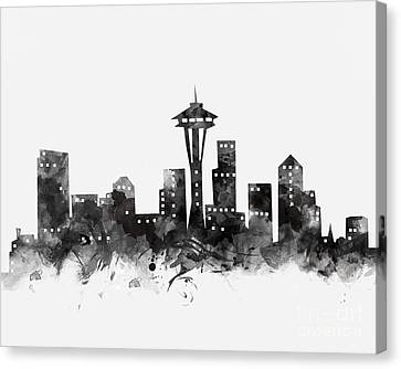 Seattle Skyline Canvas Print - Seattle Skyline by Monn Print