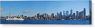 Seattle Skyline Panorama Canvas Print