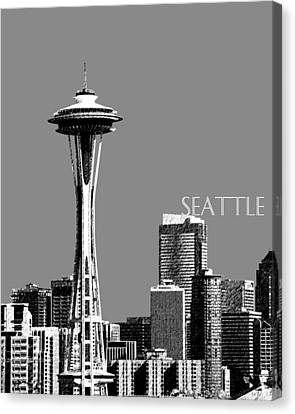 Seattle Skyline Space Needle - Pewter Canvas Print by DB Artist