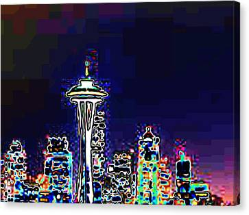 Seattle Skyline Canvas Print by Tim Allen