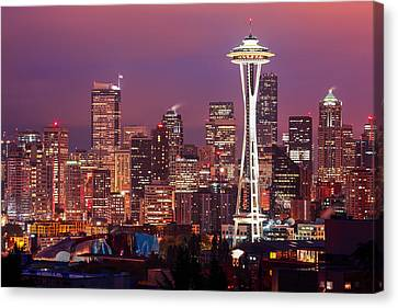 Seattle Skyline Canvas Print by Todd Klassy
