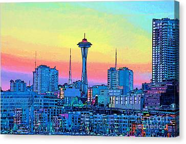 Seattle Space Needle Canvas Print by RJ Aguilar