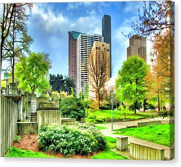 Seattle Spring Fine Art Print Canvas Print by Greg Sigrist