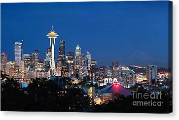 Seattle Twight Canvas Print