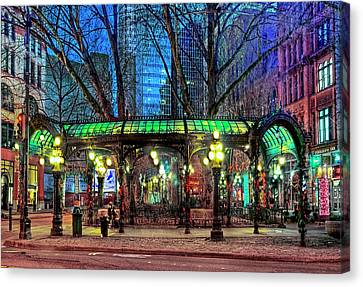 Seattle's Iron Pergola Canvas Print by Greg Sigrist