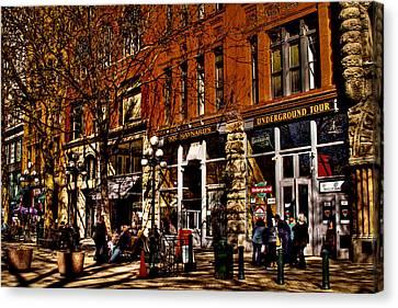Seattle's Underground Tour Canvas Print by David Patterson