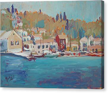 Seaview Lggos Paxos Canvas Print by Nop Briex