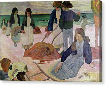 Seaweed Gatherers Canvas Print by Paul Gauguin