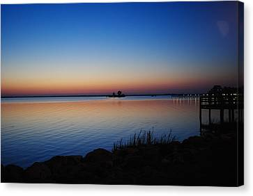 Canvas Print featuring the photograph Sebastian Sunrise by Laura DAddona