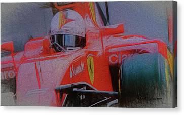 Sebastian Vettel Canvas Print by Marvin Spates