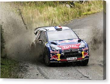 Sebastien Loeb Wrc Rally Gb Canvas Print