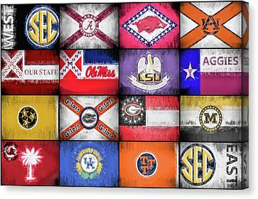 Sec Flags Canvas Print by JC Findley