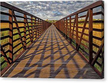Canvas Print featuring the photograph Secaucus Nj Greenway Trail  by Susan Candelario
