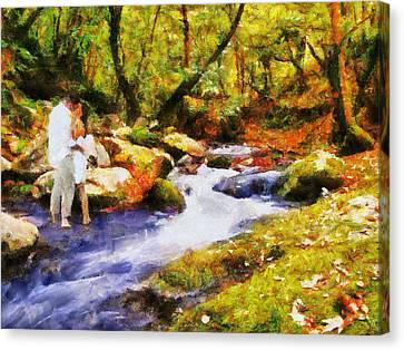 Secluded Stream Canvas Print