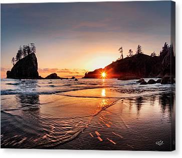Olympic National Park Canvas Print - Second Beach 3 by Leland D Howard