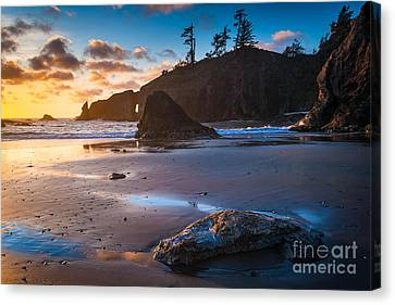 Second Beach Sunset Canvas Print by Inge Johnsson
