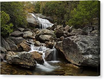 Second Falls - Blue Ridge Falls Canvas Print by Andrew Soundarajan