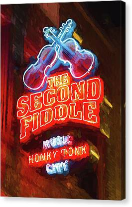 Second Fiddle - Impressionistic Canvas Print by Stephen Stookey