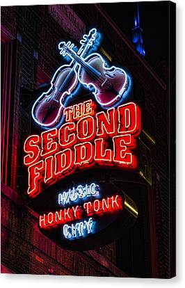 Second Fiddle Canvas Print by Stephen Stookey