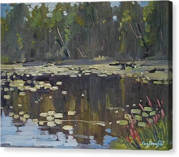 Second Pond Canvas Print by Len Stomski