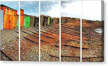 Canvas Print featuring the photograph Second Valley Boat Sheds by Stephen Mitchell