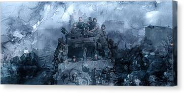 Infantryman Canvas Print - Second World War 10 by Jani Heinonen