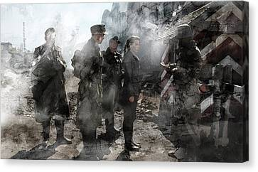 Infantryman Canvas Print - Second World War 133 by Jani Heinonen